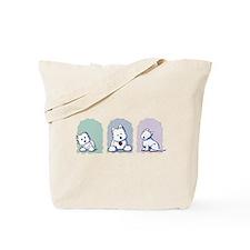 Westie Pastel Trio Tote Bag
