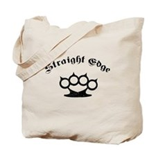 Straight Edge Brass Knuckles Tote Bag