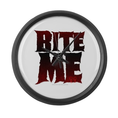 Bite Me Large Wall Clock