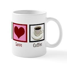 Peace Love Coffee Mug