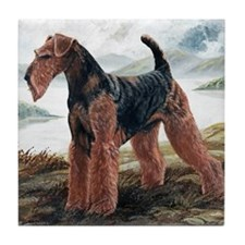 Airdale Terrier by the Lake Tile Coaster
