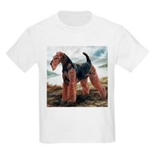 Airdale Terrier by the Lake T-Shirt
