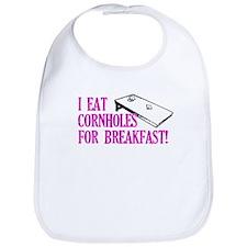 I Eat Cornholes for Breakfast Bib