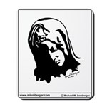 Mousepad, MADONA, , Pen & Ink Drawing by,