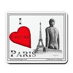 Mousepad, I LOUVRE PARIS, Pen & Ink Drawing