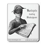 Mousepad, Harlequin reading Shakespeare