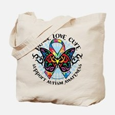 Autism Tribal Butterfly 2 Tote Bag