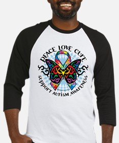 Autism Tribal Butterfly 2 Baseball Jersey