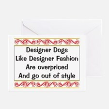 Overpriced Designer Dogs Greeting Cards (Package o