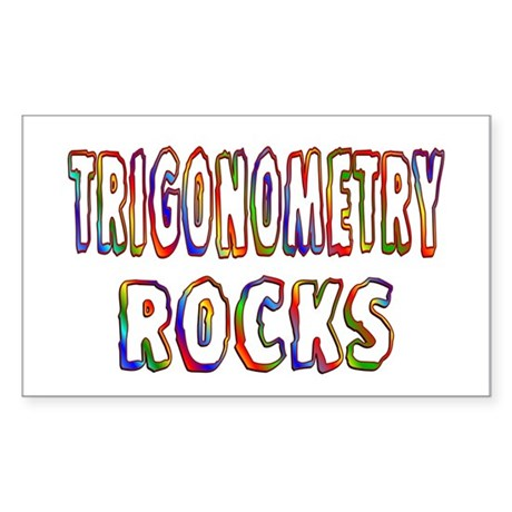 Trigonometry Sticker (Rectangle)