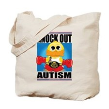 Knock Out Autism Tote Bag