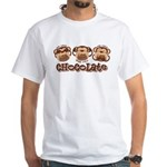 Monkey See Chocolate White T-Shirt