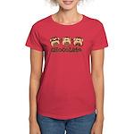 Monkey See Chocolate Women's Dark T-Shirt