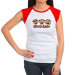 Monkey See Chocolate Women's Cap Sleeve T-Shirt