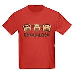 Monkey See Chocolate Kids Dark T-Shirt