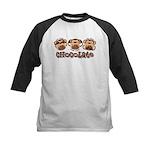Monkey See Chocolate Kids Baseball Jersey