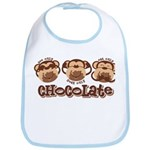 Monkey See Chocolate Bib