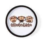 Monkey See Chocolate Wall Clock