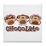 Monkey See Chocolate Tile Coaster