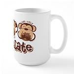 Monkey See Chocolate Large Mug