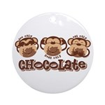 Monkey See Chocolate Ornament (Round)