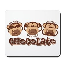 Monkey See Chocolate Mousepad