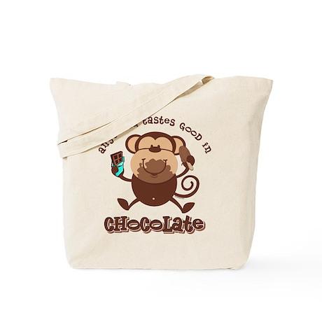 Chocolate Monkey Tote Bag