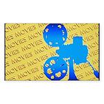 Movies Sticker (Rectangle 10 pk)