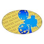 Movies Sticker (Oval 10 pk)