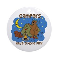 Campers Have S'More Fun Ornament (Round)