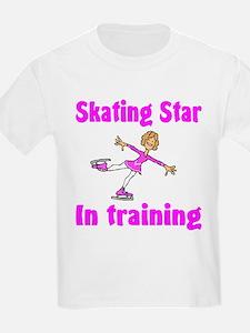 Skating Star in Training Abigail Kids T-Shirt