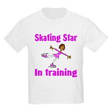 Skating Star in Training Olivia Kids T-Shirt