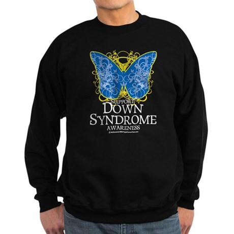 Down Syndrome Butterfly Sweatshirt (dark)
