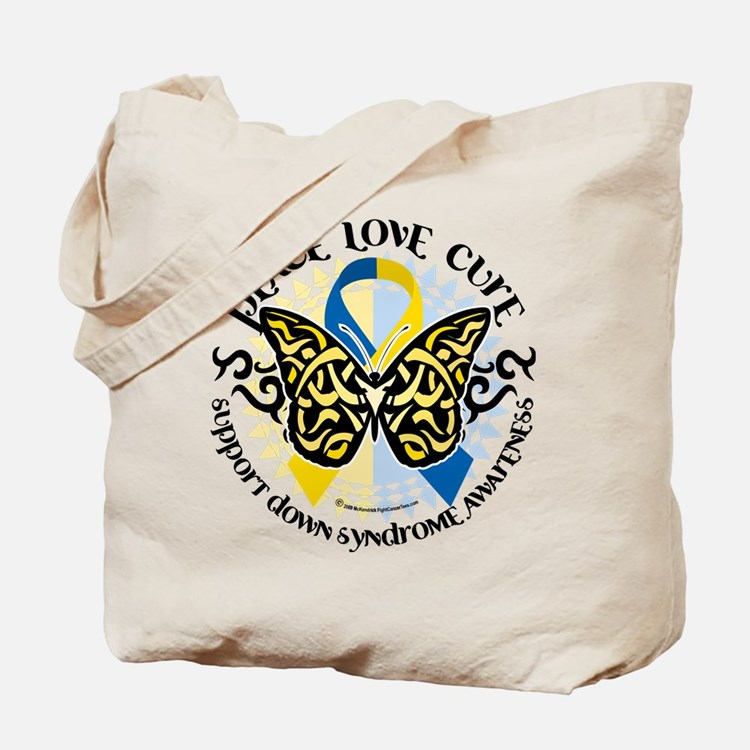 Down Syndrome Tribal Butterfl Tote Bag