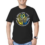 Down syndrome Fitted T-shirts (Dark)