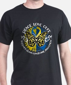 Down Syndrome Tribal Butterfl T-Shirt