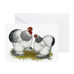 Cochins: Columbian Bantams Greeting Cards (Pk of 2