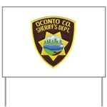 Oconto Sheriff's Dept Yard Sign