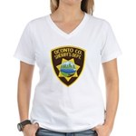 Oconto Sheriff's Dept Women's V-Neck T-Shirt