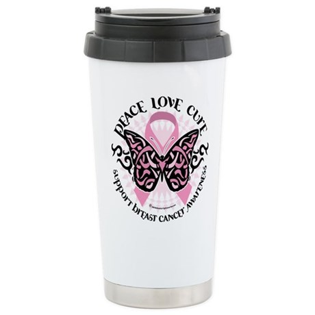 Breast Cancer Butterfly Triba Stainless Steel Trav