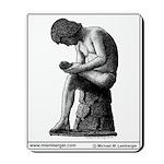 Mousepad, Raphael statue, Pen & Ink by