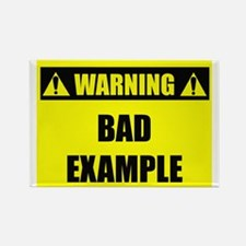 WARNING: Bad Example Rectangle Magnet