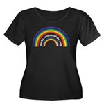 Double Rainbow all the way! Women's Plus Size Scoo