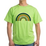 Double Rainbow all the way! Green T-Shirt