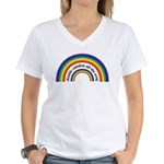 Double Rainbow all the way! Women's V-Neck T-Shirt