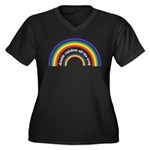 Double Rainbow all the way! Women's Plus Size V-Ne