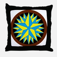 Penn-Dutch - Triple Star Hex Throw Pillow