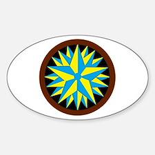 Penn-Dutch - Triple Star Hex Sticker (Oval)