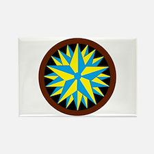 Penn-Dutch - Triple Star Hex Rectangle Magnet