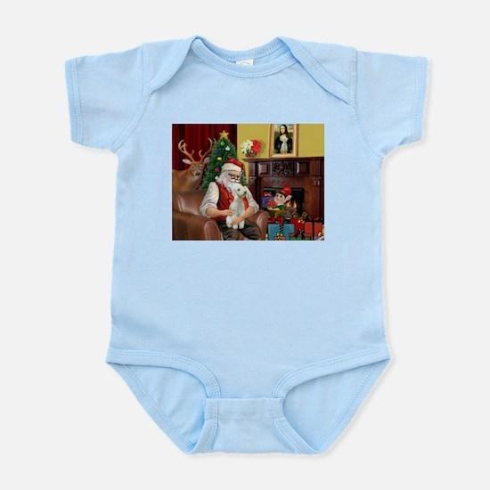 Santa's Bedlington Infant Bodysuit